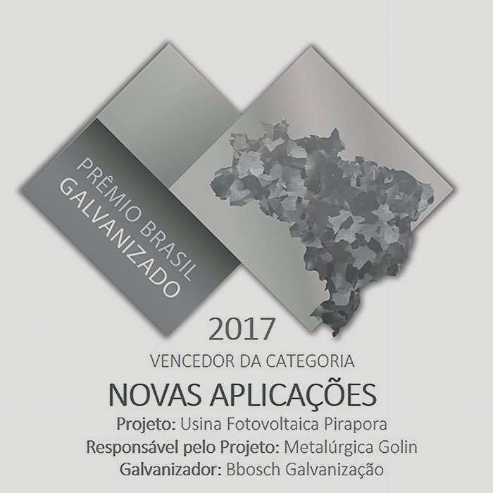 Tubos Galvanizados - Golin vencedora do prêmio Brasil Galvanizado 2017