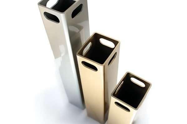 Peças – tubos quadrados